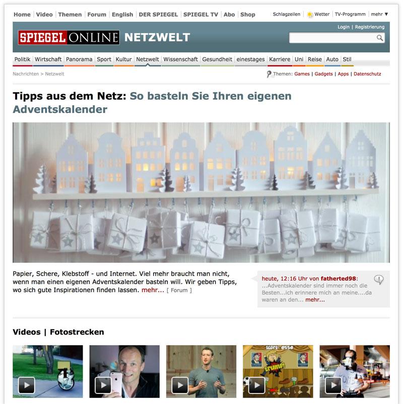 Deko-Kitchen auf Spiegel Online