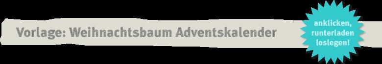 Vorlage: Adventskalender mit Papierweihnachtbäumen Deko-Kitchen