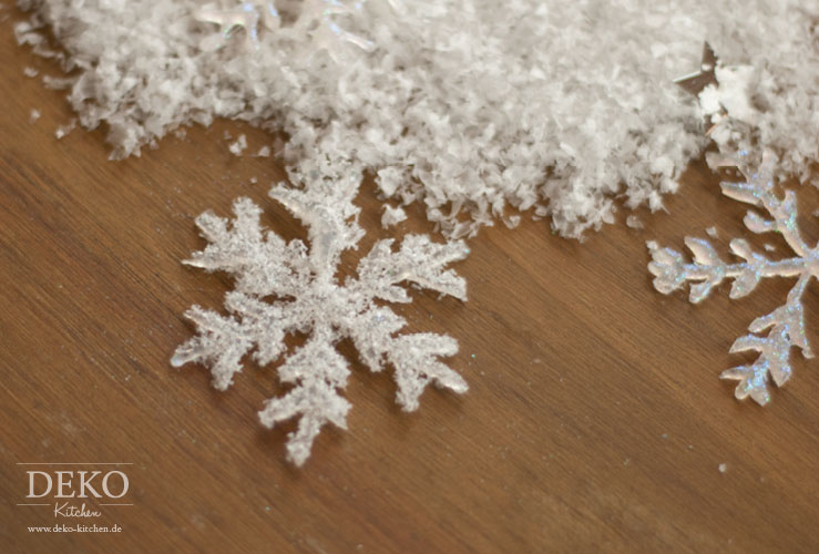 DIY: Weihnachtsdeko Basteln   Eiskristalle Aus Heißkleber Deko Kitchen