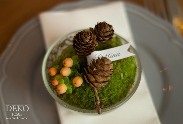 DIY weihnachtliches Gesteck für Tischdeko Deko-Kitchen