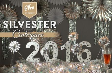Silvesterdeko basteln: leuchtendes Centerpiece für Eure Silvester-Tischdeko