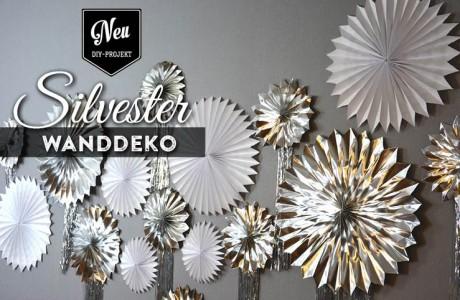 DIY Wanddeko oder Fotohintergrund für Silvesterdeko basteln Deko-Kitchen
