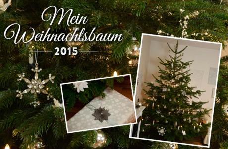 Dekoidee: Mein Weihnachtsbaum mit Kristallen, Blüten und Papiersternen