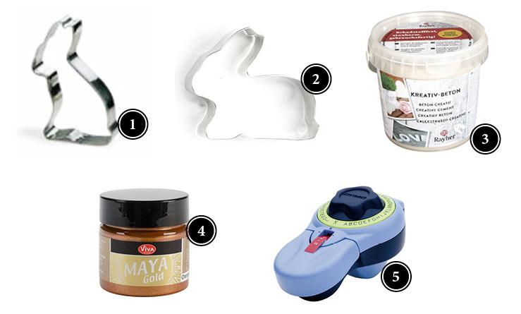 Produkte für Osterhasen aus Beton Deko-Kitchen