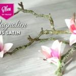 DIY: hübsche Magnolien aus Satin selber machen