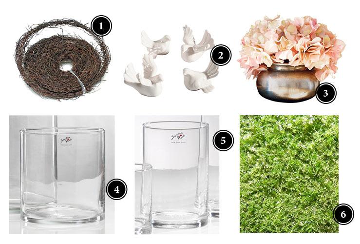 Material Frühlings-Blumendeko mit Tulpen
