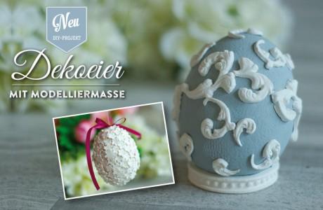 Osterdeko basteln: edle Dekoeier im Porzellanlook Deko-Kitchen