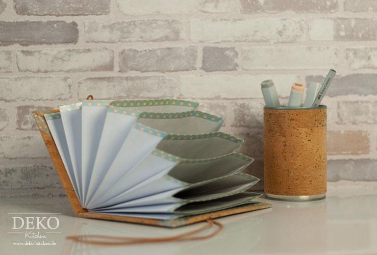 DIY: Sammelmappe mit Kork selber machen Deko-Kitchen