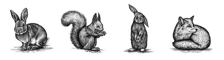 Motive für Oster-Tierfiguren