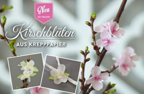 DIY: hübsche Kirschblüten aus Krepppapier blühen das ganze Jahr!