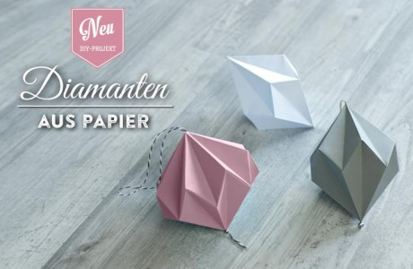 DIY: hübsche Papier-Diamanten zum Aufhängen