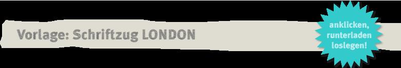 Vorlage 3D-Schriftzug London Deko-Kitchen