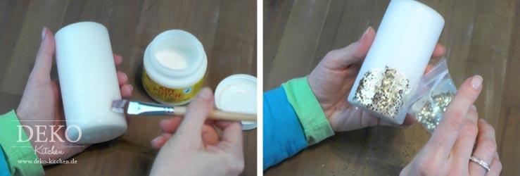 Anleitung Glitterkerze für Hochzeitsdeko Deko-Kitchen
