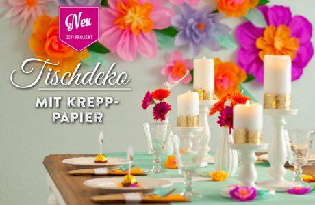 DIY: fröhliche Hochzeitsdeko mit Krepppapierblüten