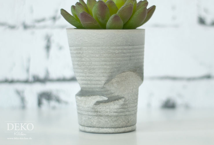 DIY: Coole Knickvasen aus Beton Deko-Kitchen