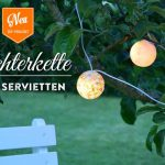 DIY: Lichterkette mit Servietten-Technik Deko-Kitchen