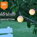 DIY: hübsche Lichterkette mit Servietten-Technik