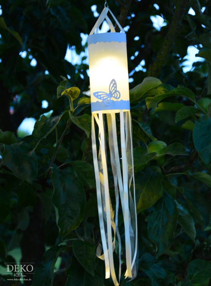 DIY: Papierlaternen mit Stoffbändern Deko-Kitchen