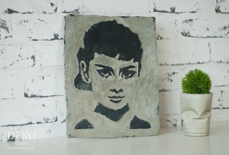 DIY: coole Stencil-Wandbilder aus Knetbeton Deko-Kitchen