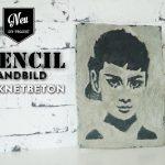 DIY: coole Stencil-Wandbilder aus Knetbeton