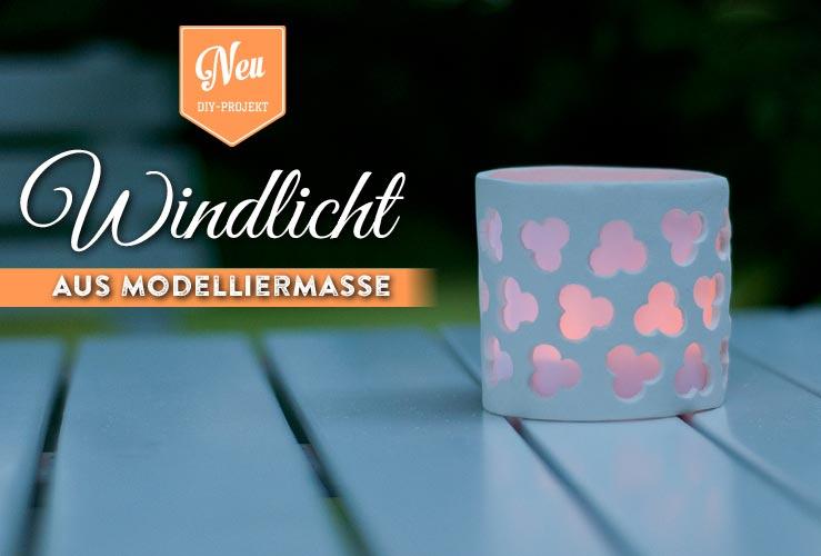 DIY: Windlicht aus Modelliermasse