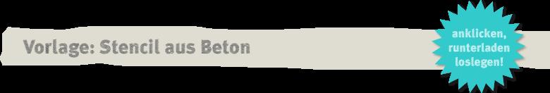Vorlage: Knetbeton-Stencil Deko-Kitchen