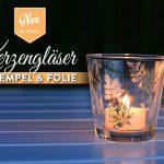 DIY: Kerzengläser mit Stempel, Schablone & Folie verzieren Deko-Kitchen
