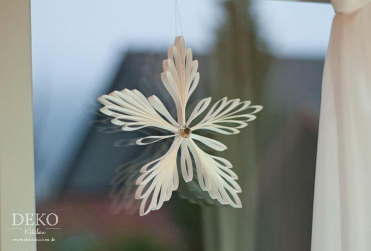 DIY: edle Weihnachtsdeko mit Eiskristall-Anhängern aus Papier Deko-Kitchen