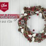 DIY: Advents-Türkranz mit weißen Ilexblättern und Zapfen Deko-Kitchen