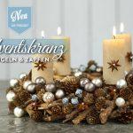 DIY: hübscher Adventskranz mit Kugeln & Zapfen Deko-Kitchen