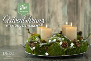 diy adventskranz aus naturmaterial mit moos zweigen deko kitchen. Black Bedroom Furniture Sets. Home Design Ideas