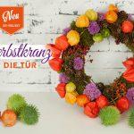 DIY: farbenfroher Herbst-Türkranz aus Naturmaterial