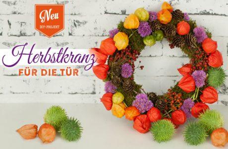DIY: farbenfroher Herbst-Türkranz aus Naturmaterial Deko-Kitchen