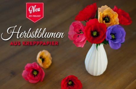 DIY: tolle Herbstblumen (Anemonen/Mohnblumen) aus Krepppapier