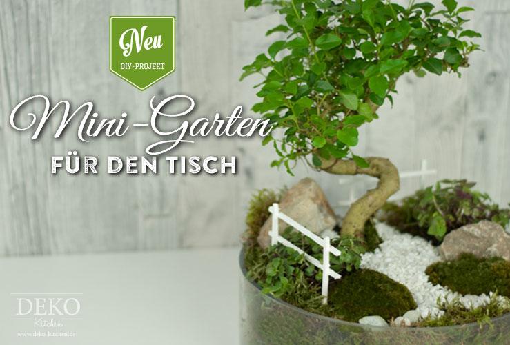 DIY: süßer Miniatur-Garten als Frühlingsdeko für den Tisch