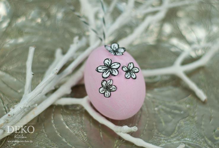 DIY: Ostereier mit Schmetterlingen und Blüten aus Papier Deko-Kitchen