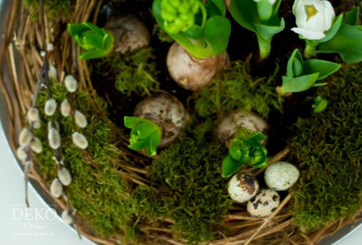 Diy h bscher osterkranz mit fr hlingsblumen deko kitchen for Deko kitchen herbstdeko