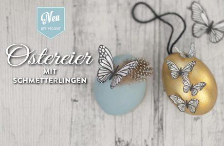 DIY: hübsche Ostereier mit Schmetterlingen und Blüten aus Papier