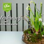 DIY: hübscher Osterkranz mit Frühlingsblumen
