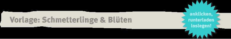 Vorlage: Schmetterlingen und Blüten aus Papier Deko-Kitchen