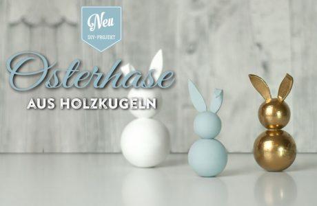 DIY: hübsche Deko-Osterhasen aus Holzkugeln Deko-Kitchen
