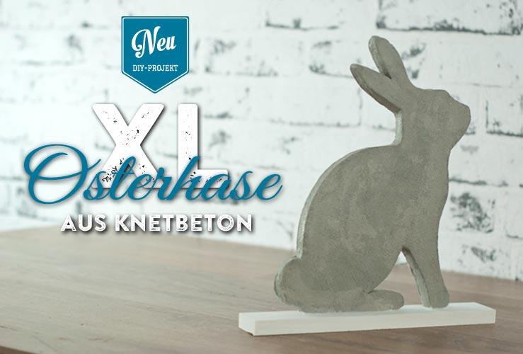 DIY: stylischer XL-Osterhase aus Knetbeton