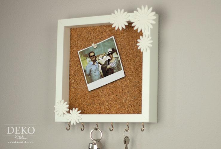 DIY: cooles Schlüsselboard mit Pinnwand aus Bilderrahmen Deko-Kitchen