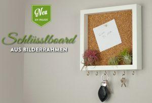 Super DIY: cooles Schlüsselboard mit Pinnwand aus Bilderrahmen – Deko LF39
