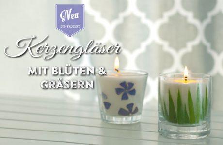 DIY: Kerzengläser mit Blüten und Gräsern aus dem Garten Deko-Kitchen