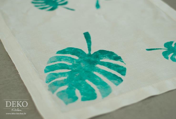 DIY: Stoff selbst bedrucken Deko-Kitchen