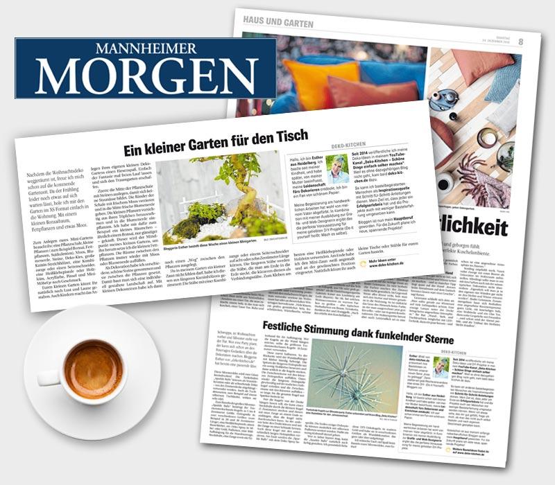 Artikel im Mannheimer Morgen Deko-Kitchen