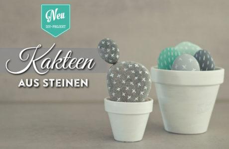 DIY: süße Kakteen aus Steinen selber machen Deko-Kitchen