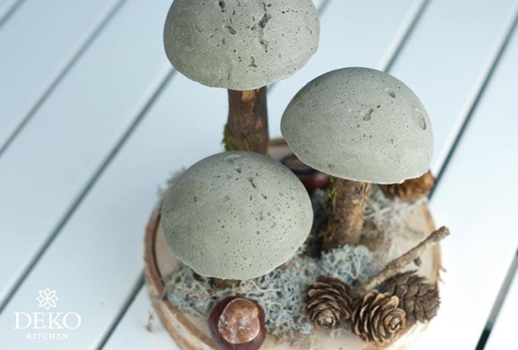 DIY: coole Herbstdeko mit Pilzen aus Beton Deko-Kitchen