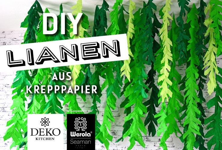 DIY: gigantischer Lianen-Wald aus Krepppapier